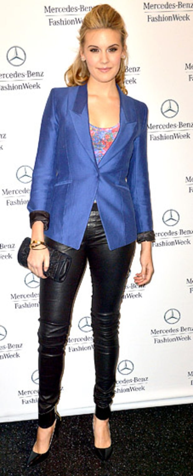 Maggie Grace: Fall 2013 Mercedes-Benz Fashion Week at Lincoln Center