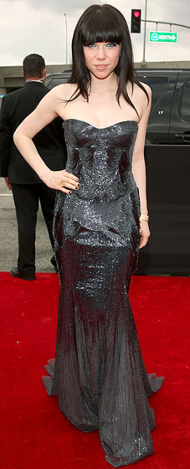 Carly Rae Jepsen at the 2013 Grammy Awards