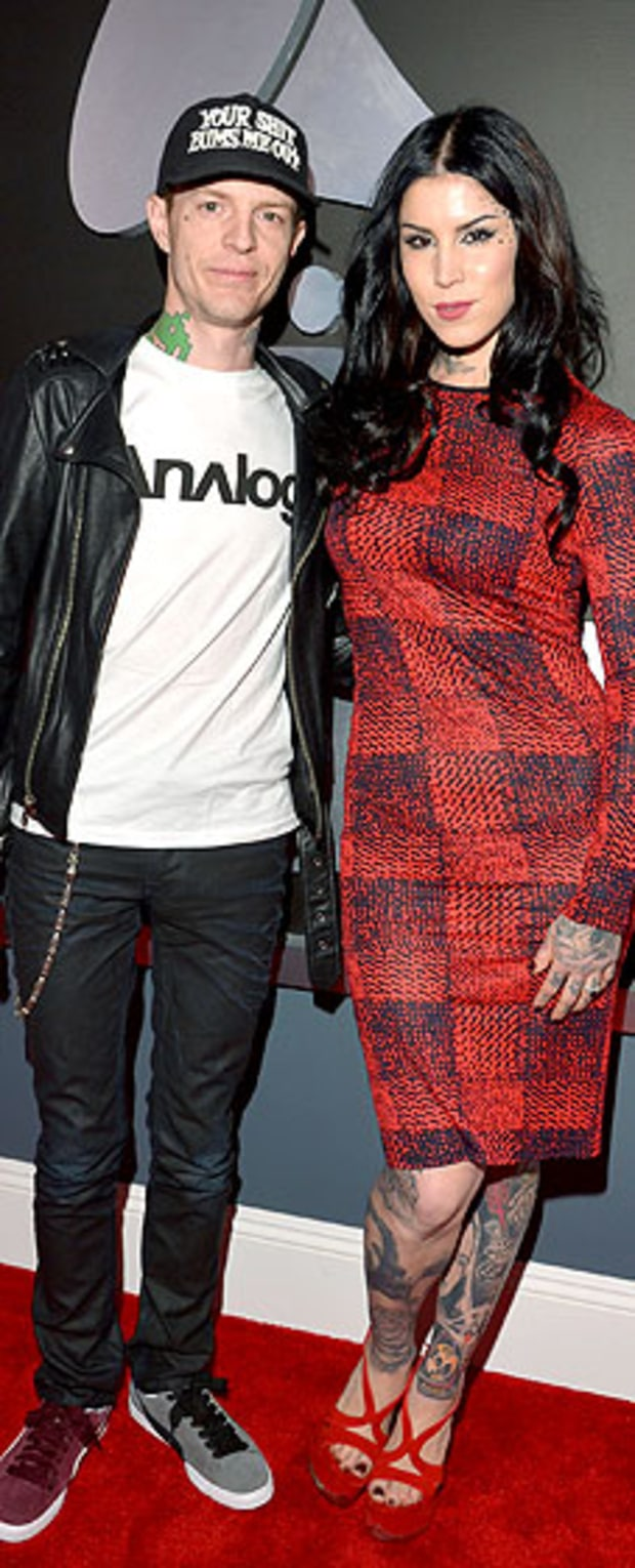 Deadmau5 and Kat Von D at the 2013 Grammy Awards