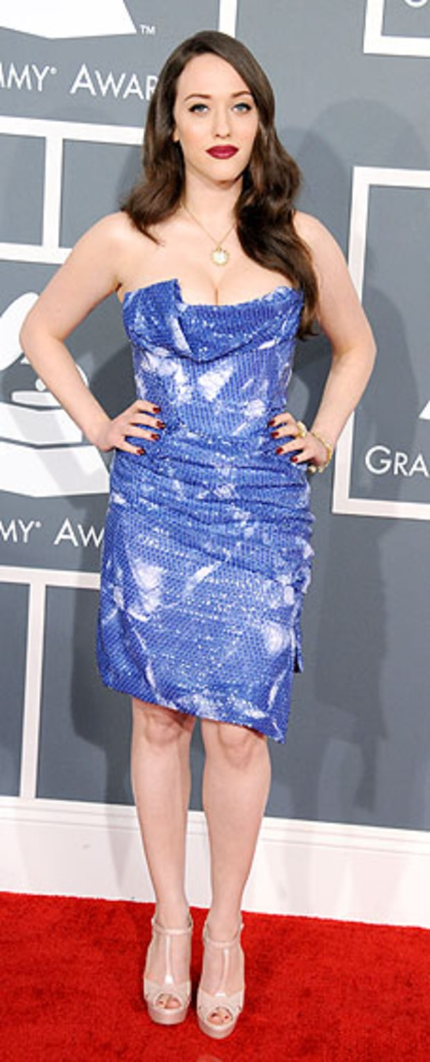 Kat Dennings at the 2013 Grammy Awards