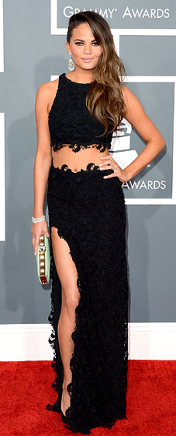 Chrissy Teigen at the 2013 Grammy Awards