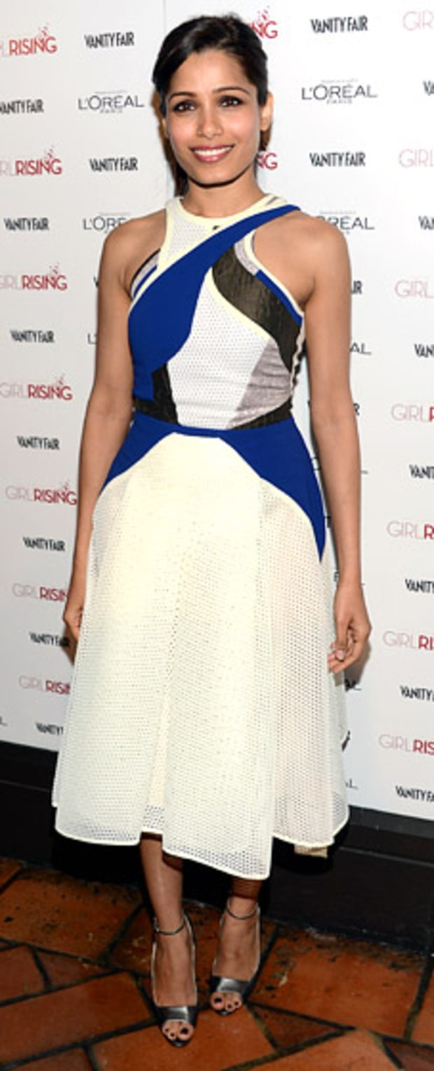 Freida Pinto: Vanity Fair and L'Oreal Paris Host DJ Night in Support of 10X10