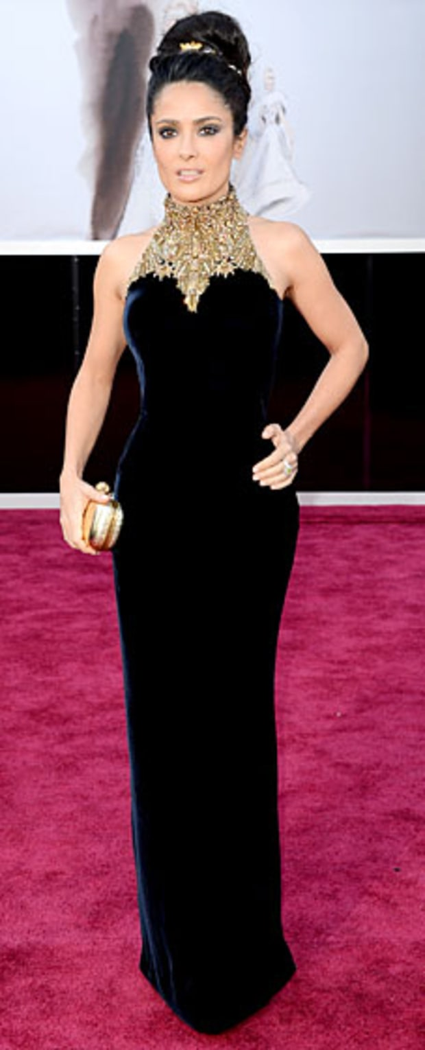 Salma Hayek at the 2013 Oscars