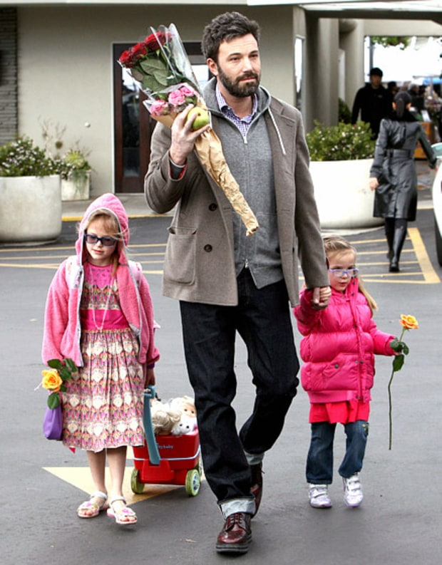 Ben, Violet and Seraphina Affleck