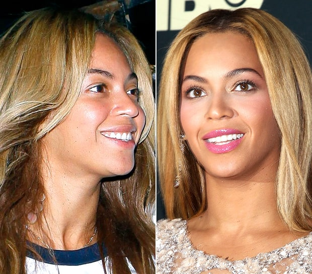 Beyonce Knowles Natural Beauty Stars Without Makeup