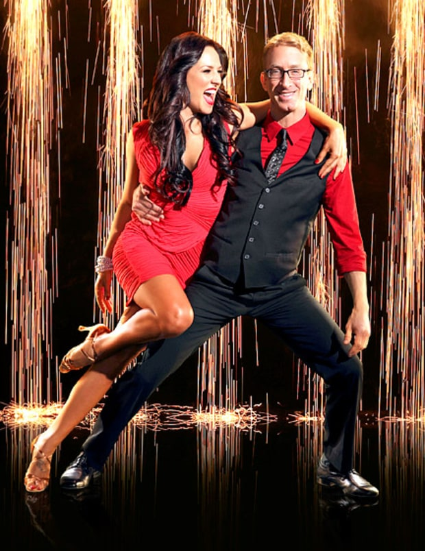 Andy Dick and Sharna Burgess