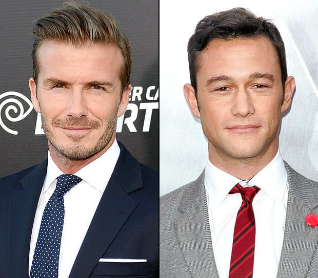 David Beckham and Joseph Gordon-Levitt