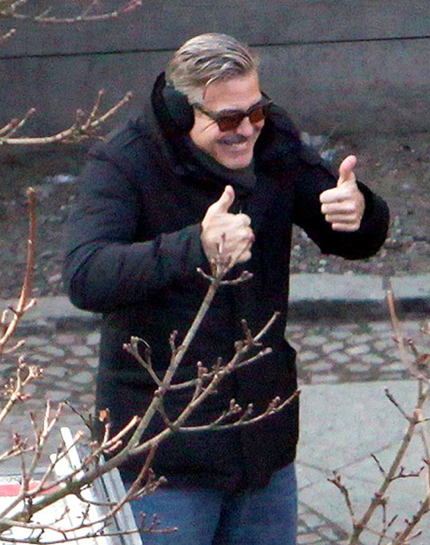 Clooney's Thumbs Up