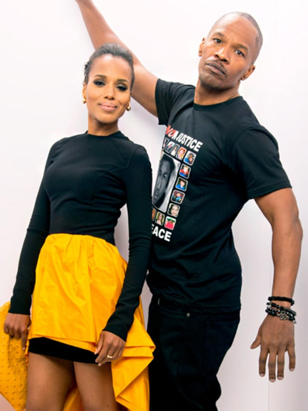 Kerry Washington and Jamie Foxx