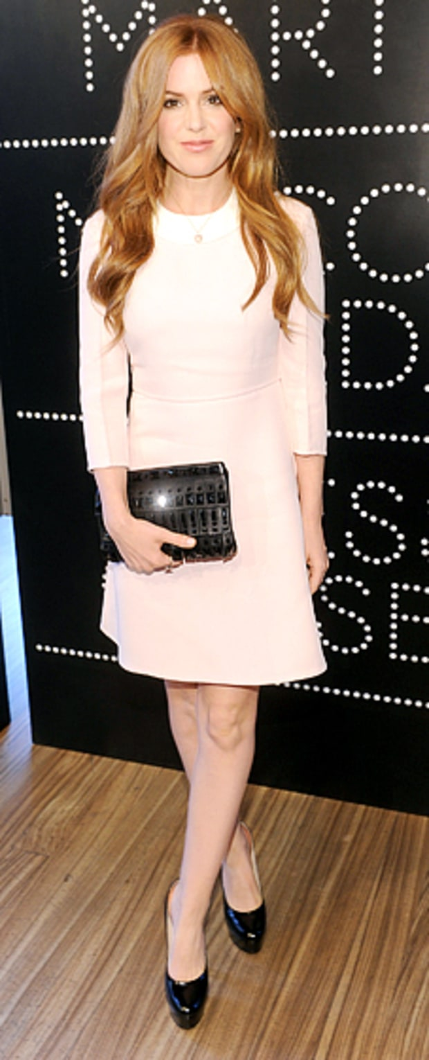 Isla Fisher: Catherine Martin and Miuccia Prada Dress Gatsby Opening Cocktail