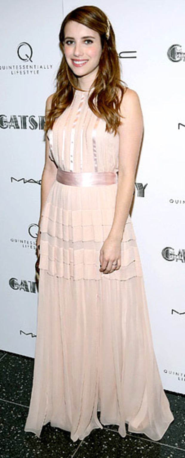 Emma Roberts: Great Gatsby Screening at MOMA