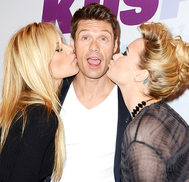 Smooches for Seacrest