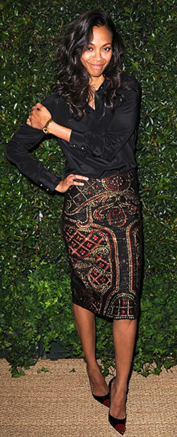 Zoe Saldana: Vogue and Mac Cosmetics Dinner Party in Honor of Prabal Gurung