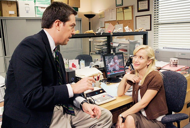 Andy Bernard and Angela Martin