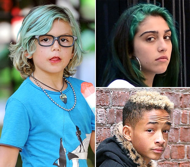 Celebrity Kids With Colored Hair