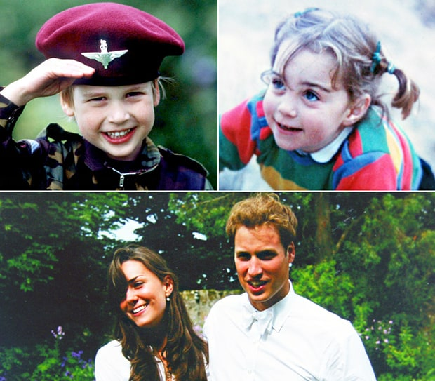 Kate Middleton's and Prince William's Childhood Photos