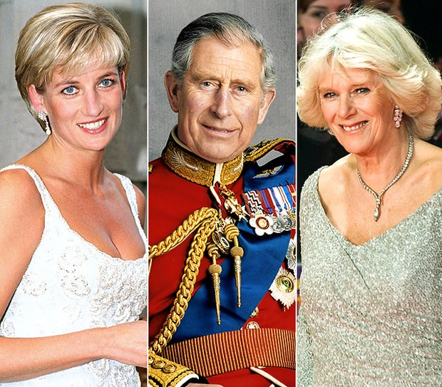 Prince Charles, the Late Princess Diana, and Camilla Parker Bowles