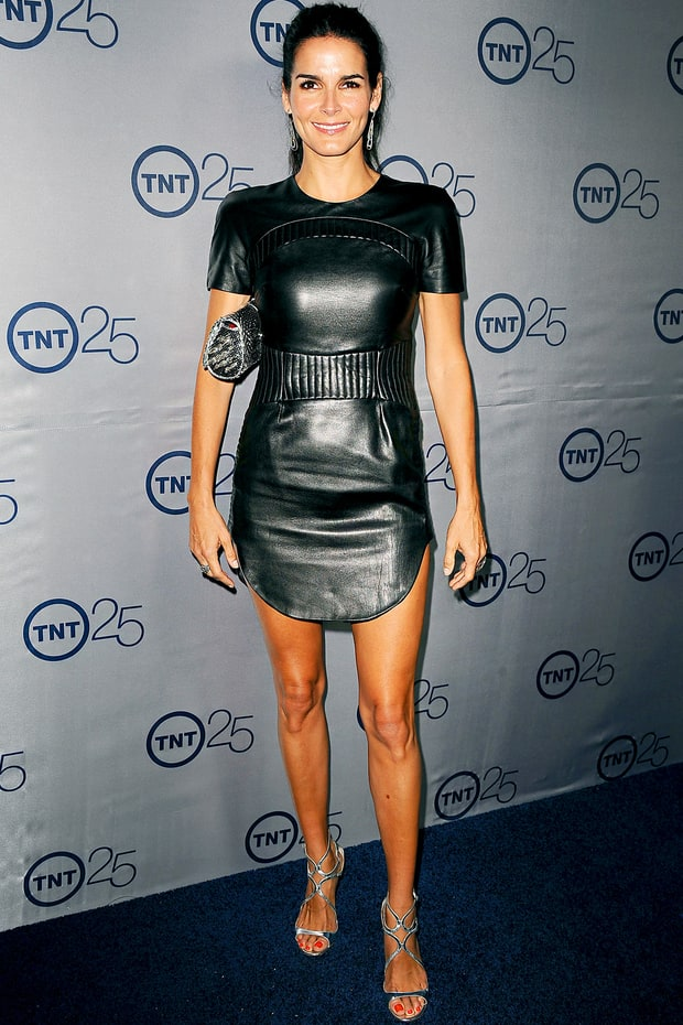 Angie Harmon Tnt 25th Anniversary Party Red Carpet 24 7 What Stars Are Wearing Us Weekly