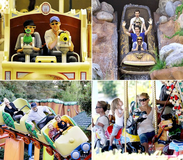 Celebrities at Theme Parks