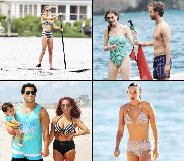 Stars in Retro-Inspired Bikinis