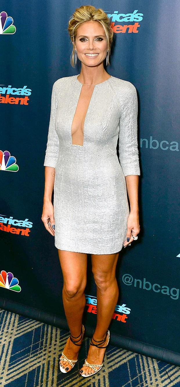 Heidi Klum: America's Got Talent Post-Show Red Carpet ...