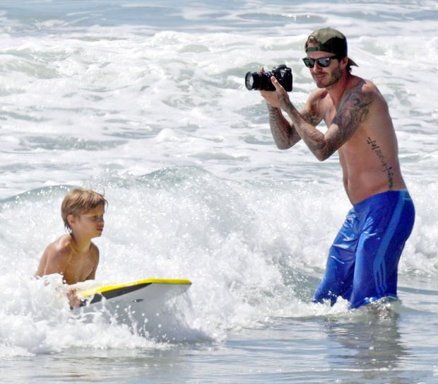 Beckham Makes Waves