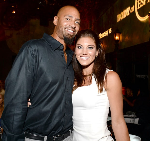Hope Solo and Jerramy Stevens