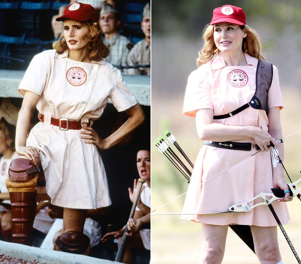 Geena Davis as Dottie Hinson in A League of Their Own