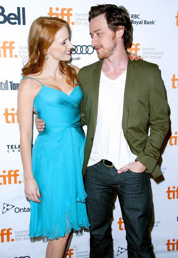 Jessica Chastain and James McAvoy