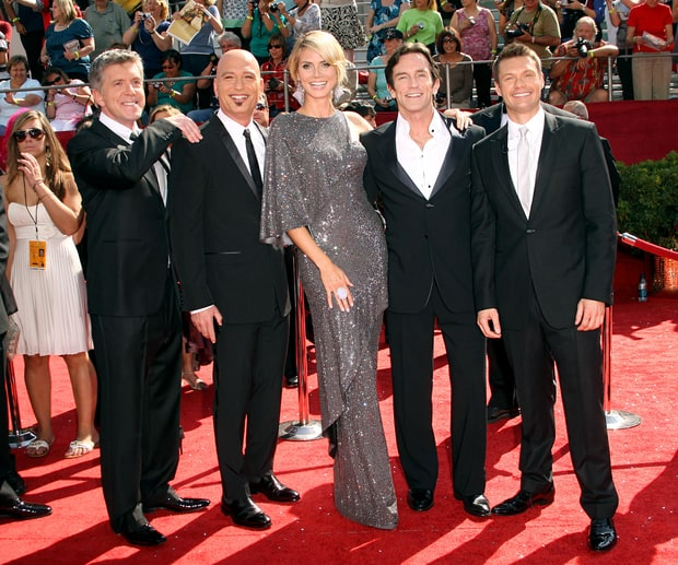 Tom Bergeron, Heidi Klum, Howie Mandel, Jeff Probst, and Ryan Seacrest