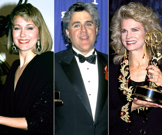 Jane Pauley, Jay Leno and Candice Bergen