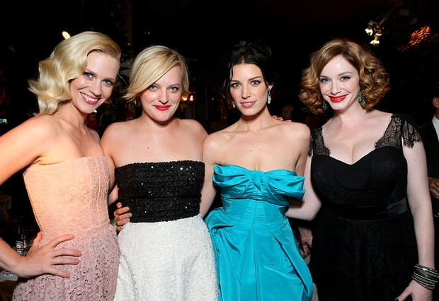 January Jones, Elisabeth Moss, Jessica Pare and Christina Hendricks