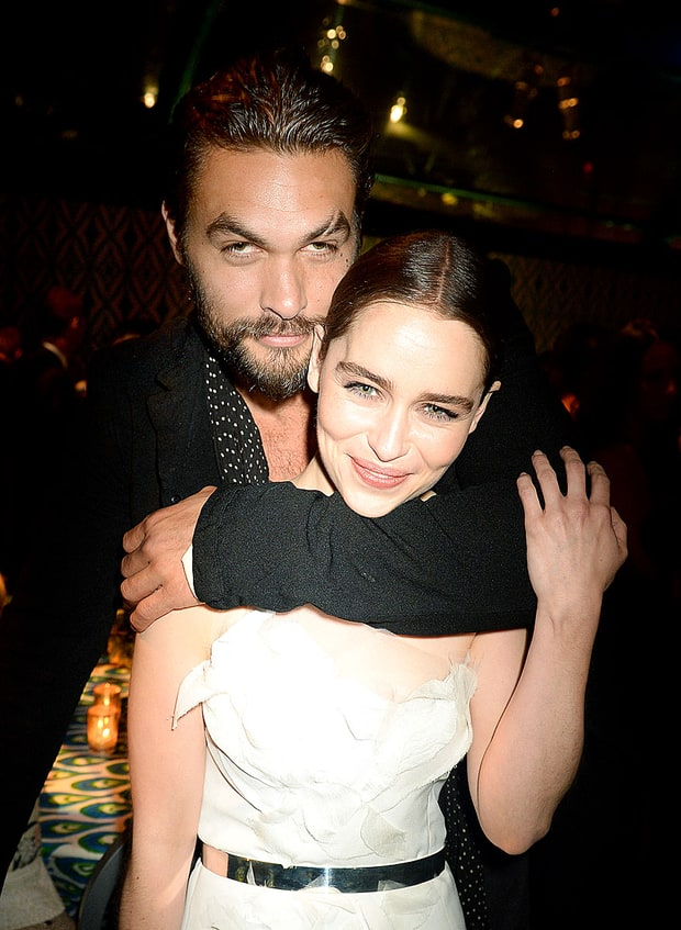 Jason Momoa and Emilia Clarke | Emmys 2013 Party Pictures ...