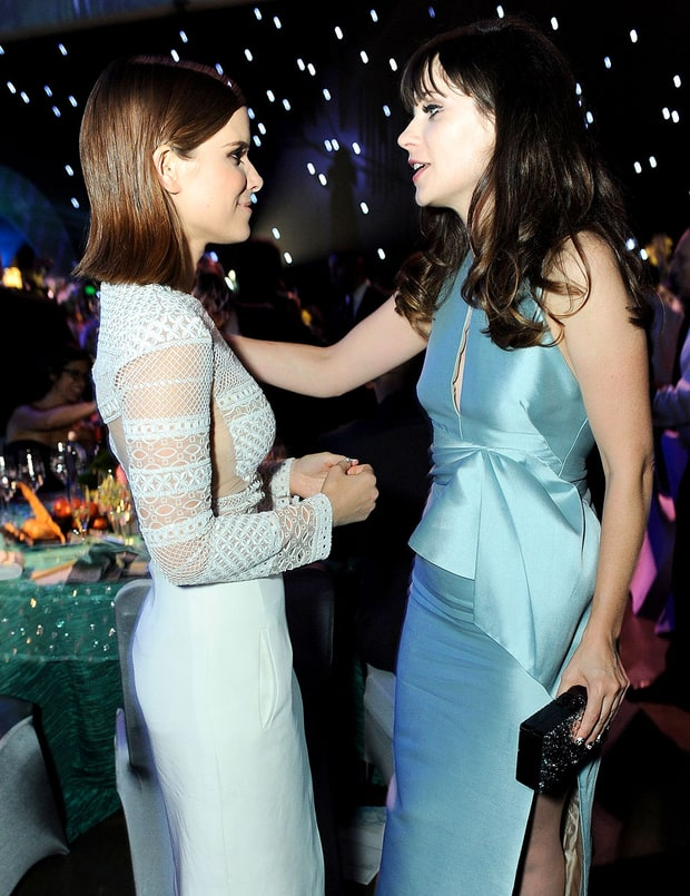 Kate Mara and Zooey Deschanel