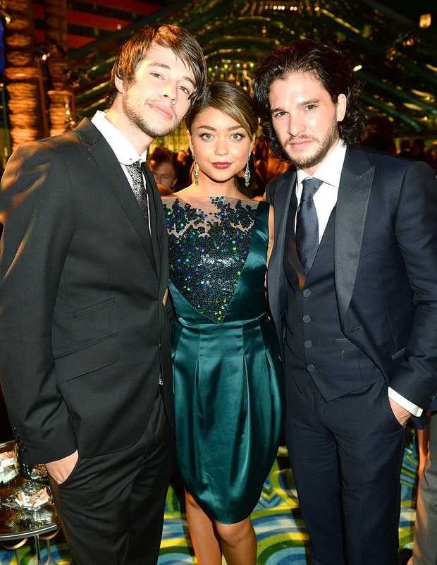 Matt Prokop, Sarah Hyland and Kit Harington
