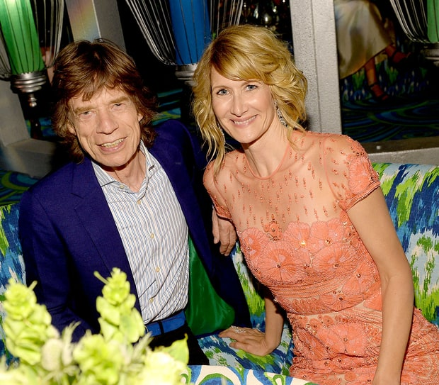 Mick Jagger and Laura Dern