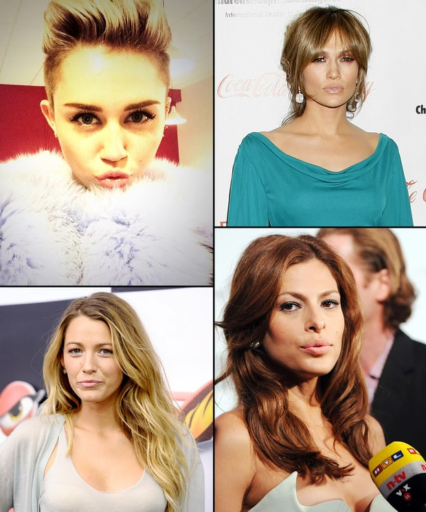 Celebrity Duck Faces