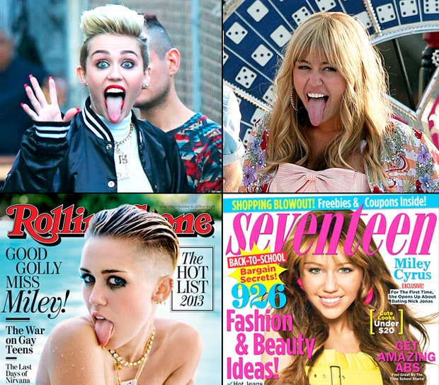 Miley Cyrus: Then and Now