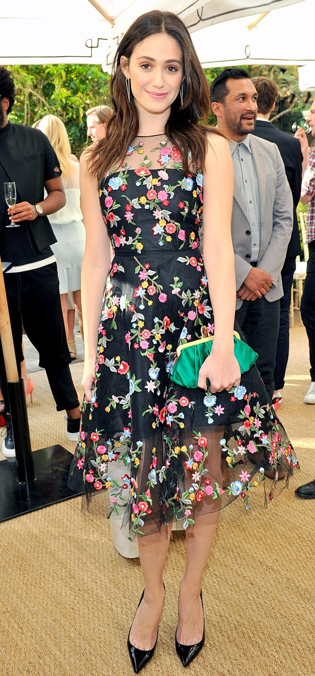 Emmy Rossum at the CFDA/Vogue Fashion Fund Event