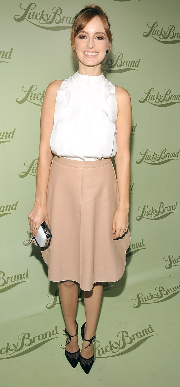 Ahna O'Reilly at the Lucky Brand Beverly Hills opening