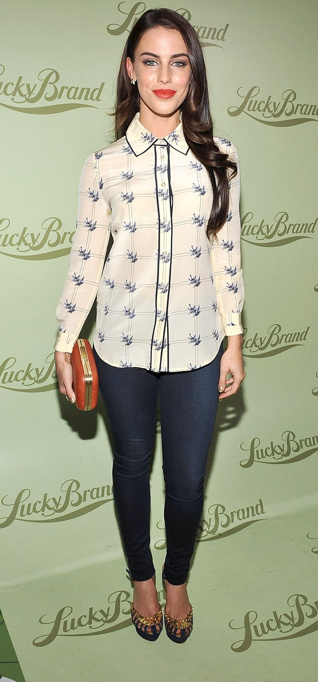 Jessica Lowndes at the Lucky Brand Beverly Hills opening