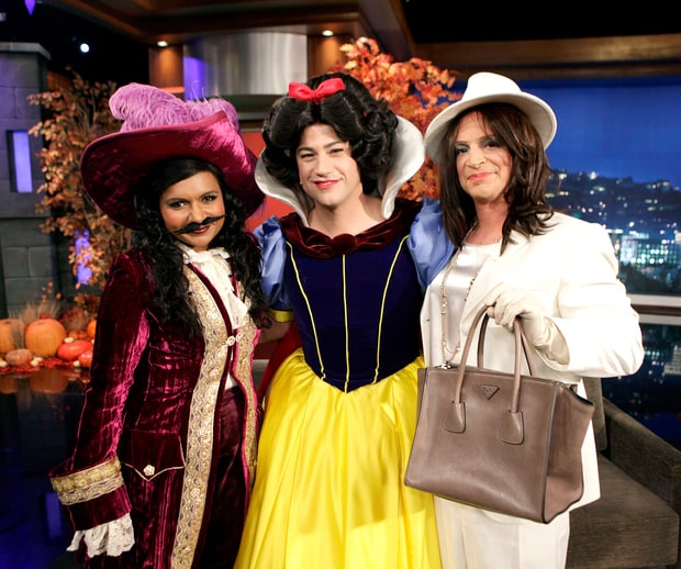 Mindy Kaling, Jimmy Kimmel, and Josh Malina
