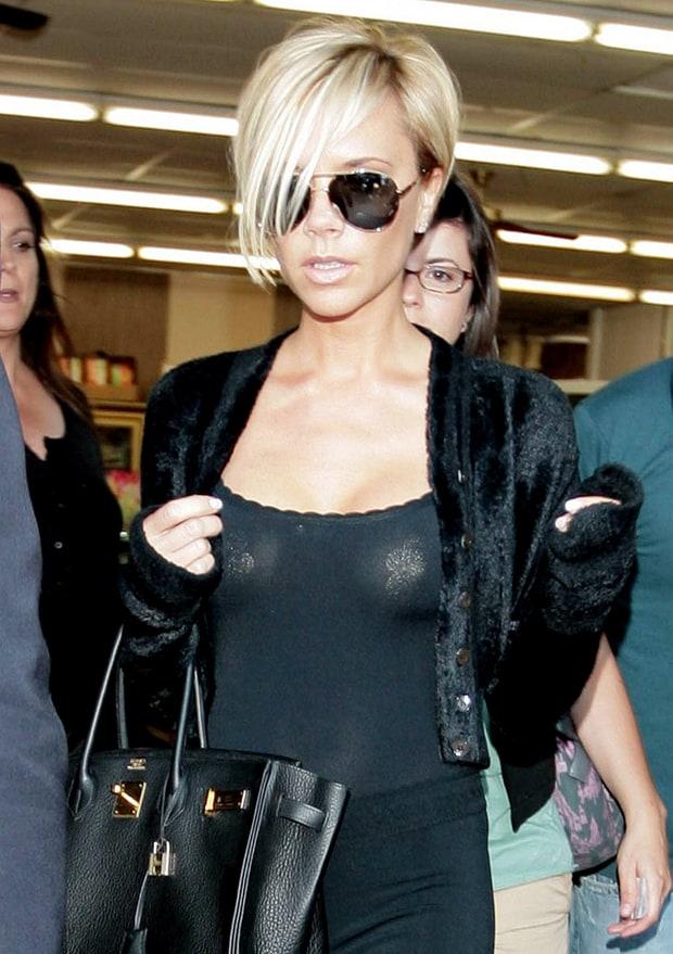 Victoria Beckham Celebrities Wearing Pasties Us Weekly