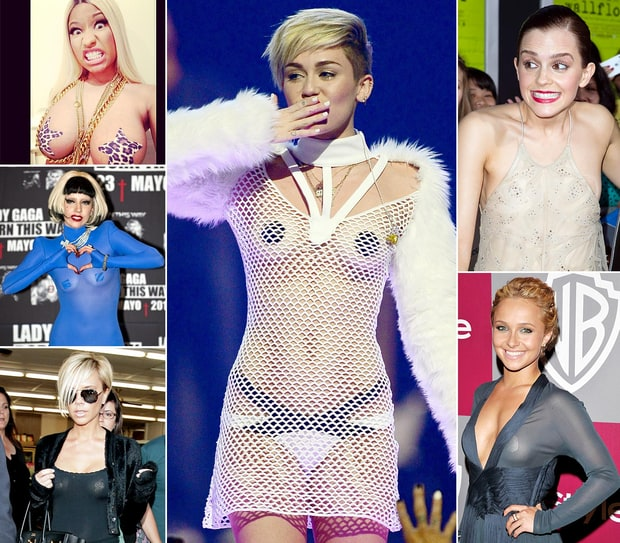 Celebrities Wearing Pasties