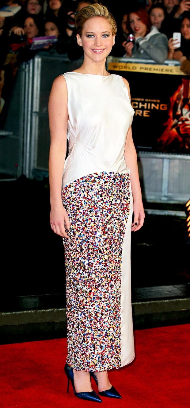 Jennifer Lawrence at the Catching Fire Premiere