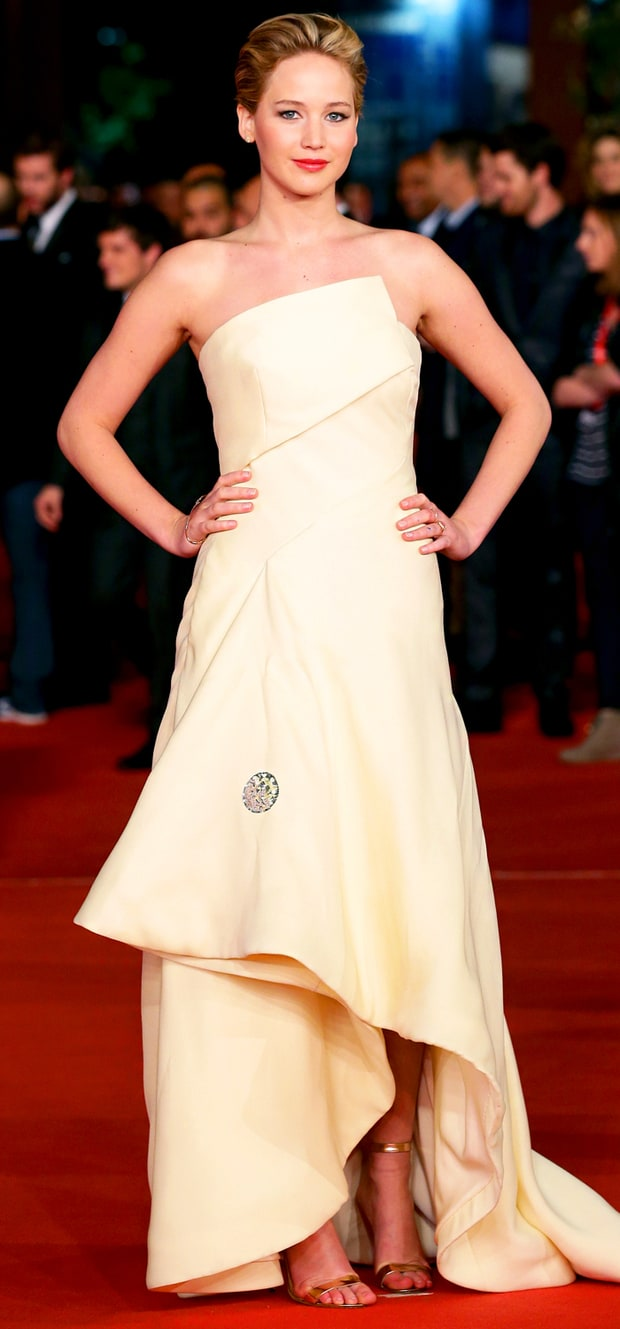 Jennifer Lawrence at the Rome Premiere of Catching Fire