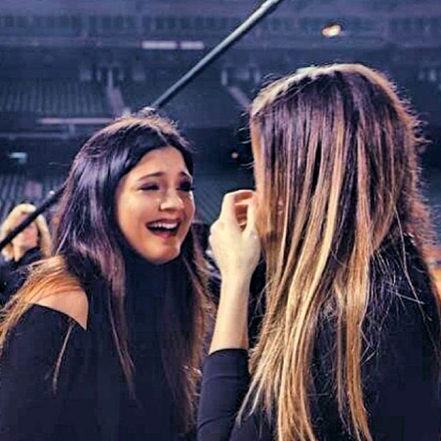 Khloe Kardashian and Kylie Jenner at Kim's Proposal