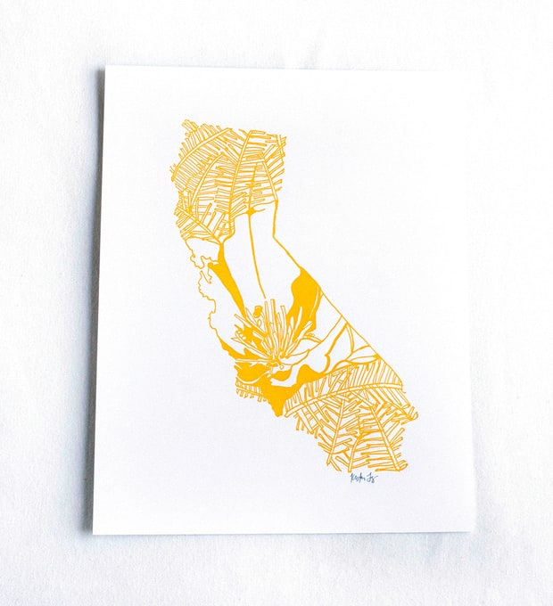 Thimblepress State Flower Prints