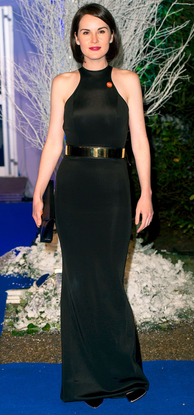Michelle Dockery at the Winter Whites Gala at Kensington Palace