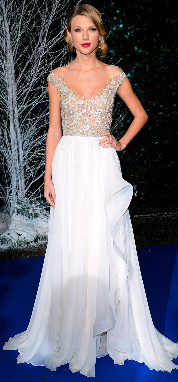 Taylor Swift at the Winter Whites Gala at Kensington Palace